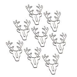 30Pcs Cute Elk Bookmark Paper Clips Christmas Retro Deer Shaped Ticket Holder DIY Gift Stationery School Office Binding Supplies