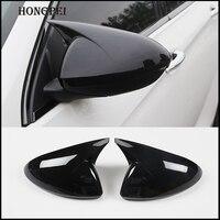 Auto-R/ückspiegel-Abdeckung Au/ßenspiegel-Abdeckung for Honda Civic for 2016-2019 Seitenr/ückspiegel Abdeckung Horn-Form ABS Gloss Black Caps