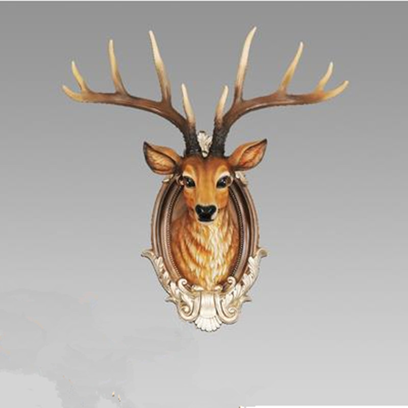 Décorations de noël, artisanat de décoration de tête de cerf, tentures murales, décoration murale de bureau à la maison moderne - 2