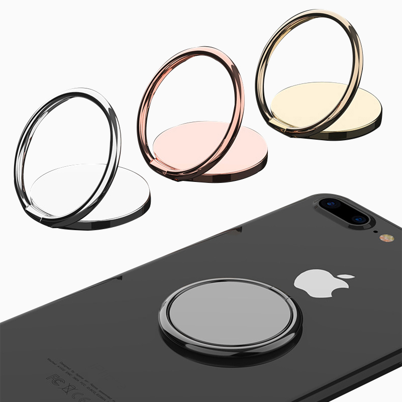 Luxury Metal Mobile Phone Socket Holder Finger Ring 360 Degree Rotation Smartphone Stand For IPhone Magnetic Car Bracket Stand