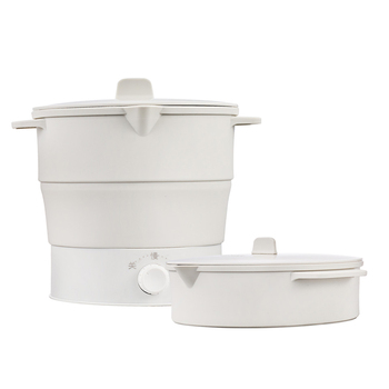 1pcs Food Grade Silicone Mini Travel Outdoor Foldable Electric Portable Hot Pot Cooker Kettle Steamer Boil Dry Portable