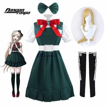 Disfraz Cosplay de Anime Danganronpa 2 Despasion Sonia Nevermind, disfraz de Halloween para mujer, uniforme escolar y peluca JK