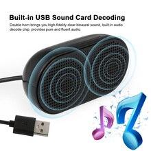 HK-5002 компьютерный динамик USB динамик Plug& Play портативный usb-динамик двойной рог 3 Вт Выход для ПК ноутбуков