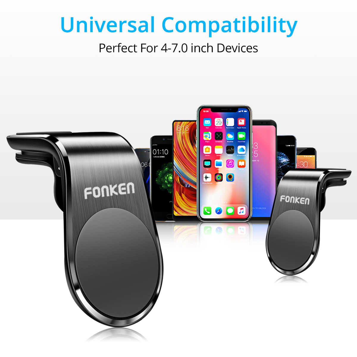Fonken Magnetik Mobil Ponsel Holder Mount Stand Universal Air Vent Klip Mount untuk iPhone 11 Pro Max Huawei Xiaomi Di gps Navigasi