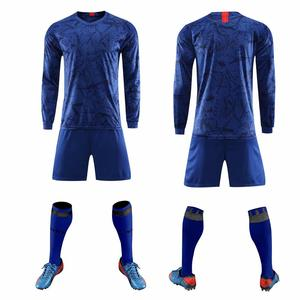 Image 3 - 2019 Long sleeve Children Sets football uniforms boys and girls sports kids youth training suits blank custom game soccer set
