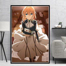 Japan Anime Violet Evergarden Canvas Painting Printed Home Decor Wall Art Modular Pictures Nordic Style Poster for Bedroom