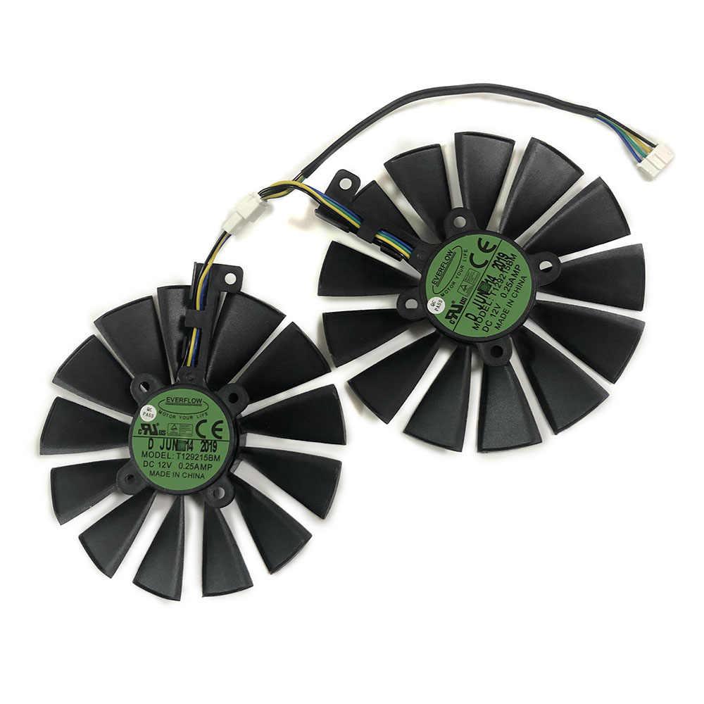 2pcs GPU RX470 GTX1080TI VGA cooler fans ROG-POSEIDON-GTX1080TI graphics card fan for ASUS ROG STRIX RX 470 Video cards cooling