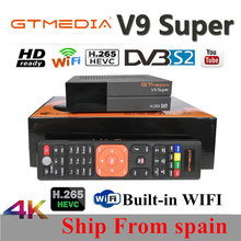 3pcs gt media v9 super satellite finder lnb cccam cline for 1 year spain dvb-s2 bluetooth Built-in WIFI same freeset V8