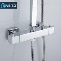 EVERSO Thermostatic Mixing Valve Bathroom Shower Faucet Set Thermostatic Control Shower Faucet Shower Mixer Tap
