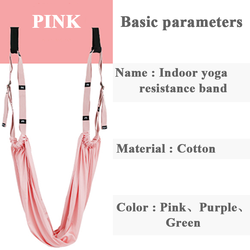 ROEGADYN Indoor Yoga Resistance Bands Yoga Strap Fitness Equipment Slim Body Fitness Resistance Bands For Yoga