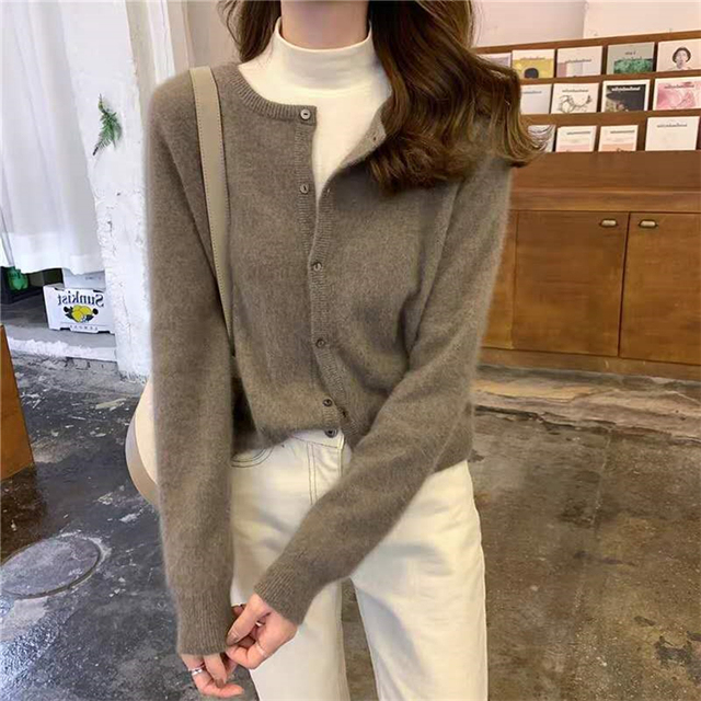 Ailegogo New 2020 Women's Sweaters Autumn Winter Fashionable Korean Style Wild Knitted Buttons Cardigans Lady Knitwear SWC1043 5