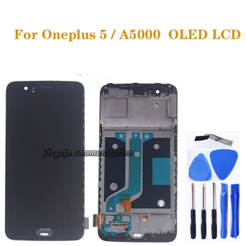 AMOLED Display for Oneplus 5 A5000 OLED LCD display + touch screen digitizer Assembly for Oneplus Five LCD Repair parts 5 5inch touch screen with lcd display assembly screen for senseit e510 digitizer touch screen with lcd display parts