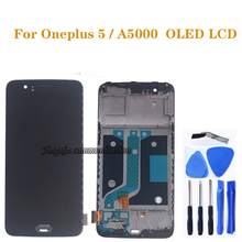 AMOLED ekran Oneplus 5 A5000 OLED LCD ekran + dokunmatik ekranlı sayısallaştırıcı grup için Oneplus beş LCD tamir parçaları