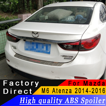 For Mazda 6 M6 Atenza 2014 2015 2016 year spoiler High quality ABS material Rear wing spoiler Can made Primer or any color