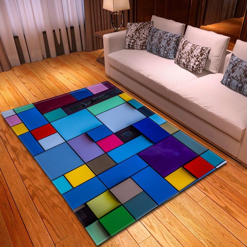 Nordic Carpet For Living Room 3D Geometric Kids Room Decoration   Carpet Home Children Rug Hallway Floor Bedroom Bedside Mats