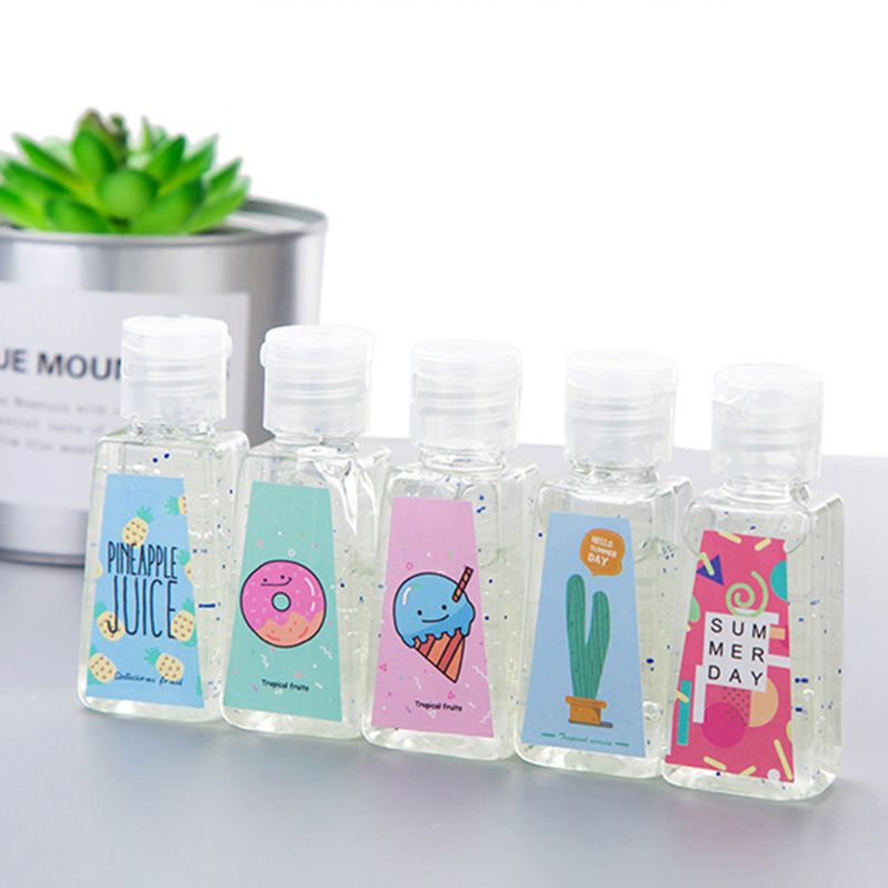 30ML Portable Alcohol-Free Hand Sanitizer Disinfecting Gel Rinse Free - Natural T4MB