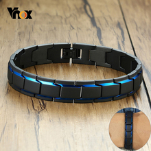 Vnox 12mm Men's Bracelets Stainless Steel Link Chain Stylish Casual Gents Wristband Chunky Punk Gothic Male Jewelry