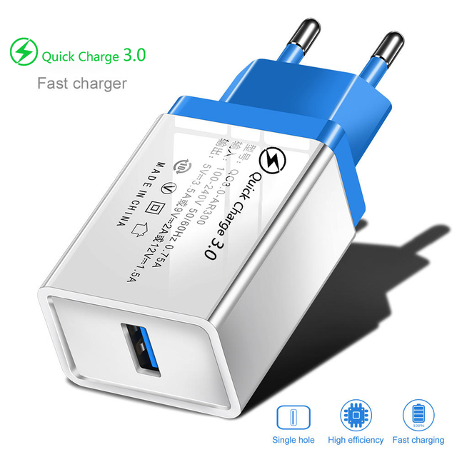 Quick Charge 3.0 USB Charger For iPhone 7 8 X 11 iPad Wall Mobile Phone Charger Fast Charging For Xiaom mi note 10 Samsung S10 9