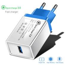 Sạc Nhanh Quick Charge 3.0 Sạc USB Cho iPhone 7 8X11 iPad Tường Sạc Điện Thoại Di Động Sạc Nhanh Cho Xiaom mi Note 10 Samsung S10 9