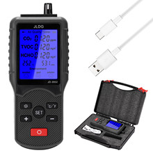 Multifuncional testador de qualidade do ar co2 tvoc medidor temperatura umidade dispositivo medição monitor dióxido carbono com tela lcd