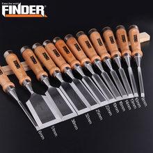 Cincel de tallado para carpintería, herramientas de carpintero, cincel de carpintería plano, CR-V de madera, profesional, tallado, 6-51mm, 1 unidad