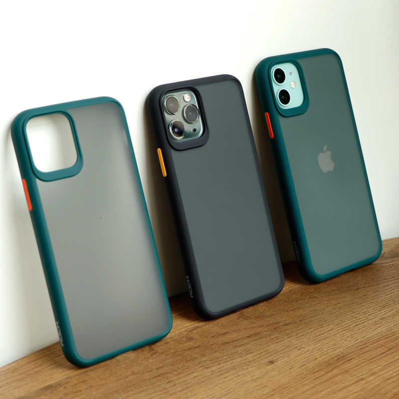 Ultra-fino esfrega capa dura para iphone 6 s 7 8 plus xr x xs 11 pro max magro esfrega casos arenito fosco capa macia