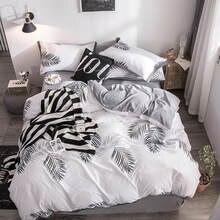 O2 oxigênio impresso conjunto de cama 4 pçs folha de cama conjunto geométrico capa edredão rainha rei tamanho têxtil casa teste padrão encantador