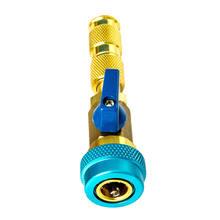 Rdzeń zaworu klimatyzacji samochodowej R134a szybkie usuwanie instalator wysokie niskie ciśnienie czynnik chłodniczy freon zawór obierak do usuwania środka narzędzie tanie tanio CN (pochodzenie) copper 0 2kg car air conditioner valve core EM05531A1 Iso9001 12cm