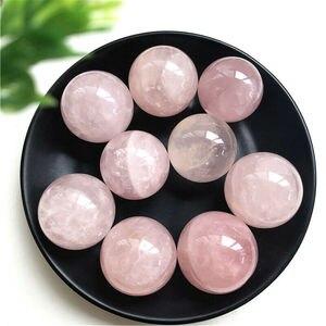 1 шт. 29-32 мм натуральный розовый кварц кристалл целебный шар Сфера украшение дома натуральный розовый кварцевый камень Бесплатная доставка