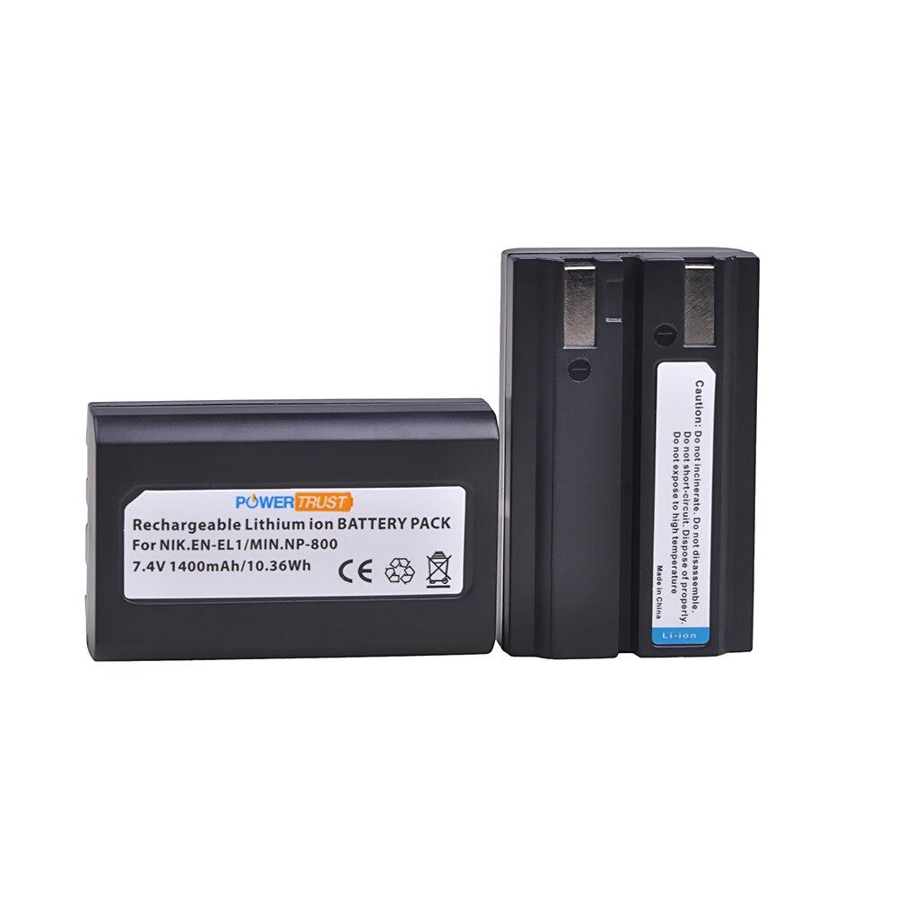 PowerTrust EN-EL1 аккумулятор ENEL1 1400 мАч для Nikon EN EL1 CoolPix 4300 5400 8700 500 775 880 885 990 995 Bateria