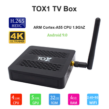 TOX1 S905X3 Bluetooth Compatibele Smart Android 9.0 Tv Box 4Gb Ram 32Gb Rom 2.4G 5G wifi Usb 3.0 4K Hd Set Top Box Media Player