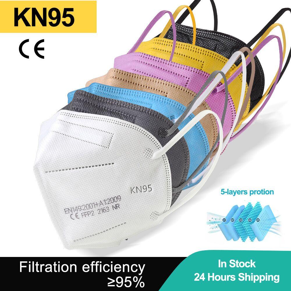 KN95 Mascarillas Colores Mask FPP2 Mascarilla FFP2mask Reusable Masks Face Mask CE FPP2 Mondkapjes M