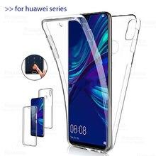 360 caso de silicone duplo para huawei y7 nova 5t y9 y7p y6 s p40 lite e y 7 p30 pro p40pro pc + tpu capa corpo inteiro huawai y7 2019