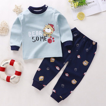 0-24M Baby Clothing Sets Autumn Baby boys Clothes Infant Cotton Girls Clothes 2pcs newborn baby Underwear Kids Clothes Set - V, 3M