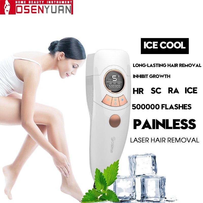2020 Lescolton 4in1 icecool IPL Epilator Permanent Laser Hair Removal LCD Display depilador a laser Bikini Trimmer Photoepilator