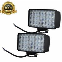 10 pçs spotlight 96w 32x3 9600lm carro conduziu a barra de luz como worklight/luz de inundação para jeep 4x4 atv 4wd suv estilo do carro ip 67