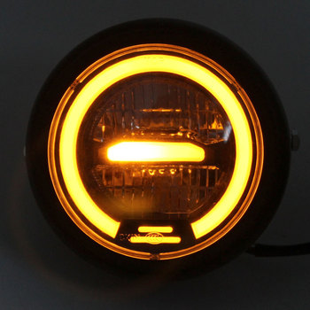 """6.5"""" Motorcycle LED Headlight Hi&Lo HeadLamp Bulb DRL With Angel Ring for Harley Sportster Cafe Racer Bobber Iron 883"""