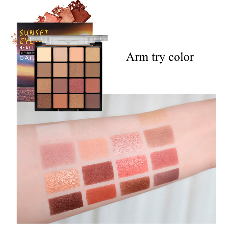 16 Color Sunset Series Eye Shadow Palette Rose Tenderness Glitter Eye Shadow Powder Palette Pigment Cosmetics in Eye Shadow from Beauty Health