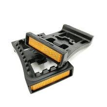 MTB шипы для педалей плоский адаптер SM PD22 самоблокирующаяся педаль плоская пластина конверсионное устройство подходит для SPD M520 M540 M780