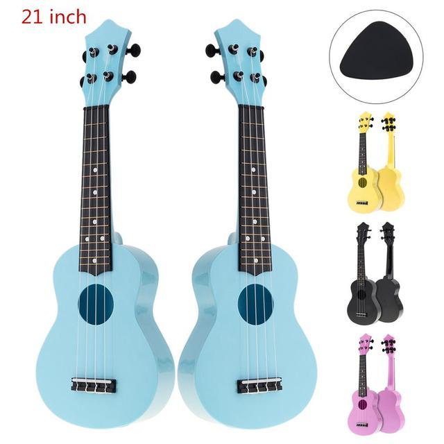 21 дюймов красочные акустические Гавайские гитары укулеле 4 струны Гавайская гитара ra инструмент для детей начинающих или основных игроков