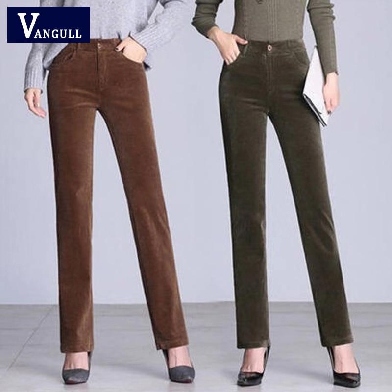 Benightedbiotoh 49 Off Comprar Pantalones De Pana Vangull Para Mujer Holgados Cintura Alta Algodon Mujer Online Baratos