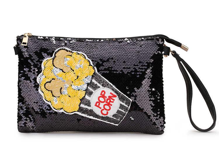 Paillettes Pop Pop Art motifs Pu cuir mode pochette pour femmes sac à bandoulière sacs à main et sac à main femme enveloppe sacs pochette