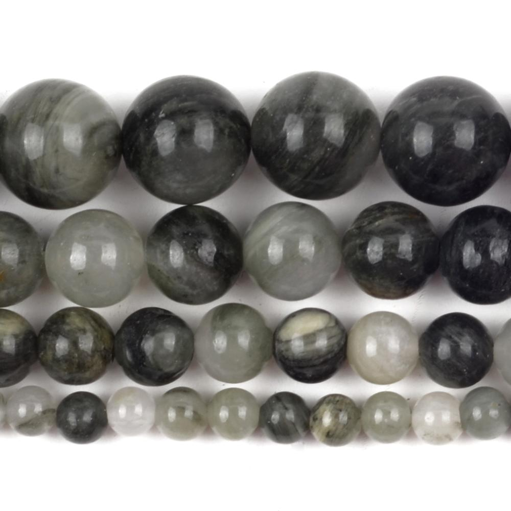 Wholesale Natural Green Grass Agates Stone Round Loose Spacer Beads For Jewelry Making 4/6/8/10mm DIY Bracelet Handmade Necklace