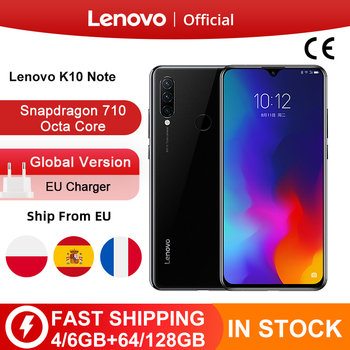 Global Version Lenovo K10 Note (Z6 Lite) 64GB 128GB Snapdragon 710 Octa Core Triple Back Cams 6.3 Inch Water Drop 4050mAh