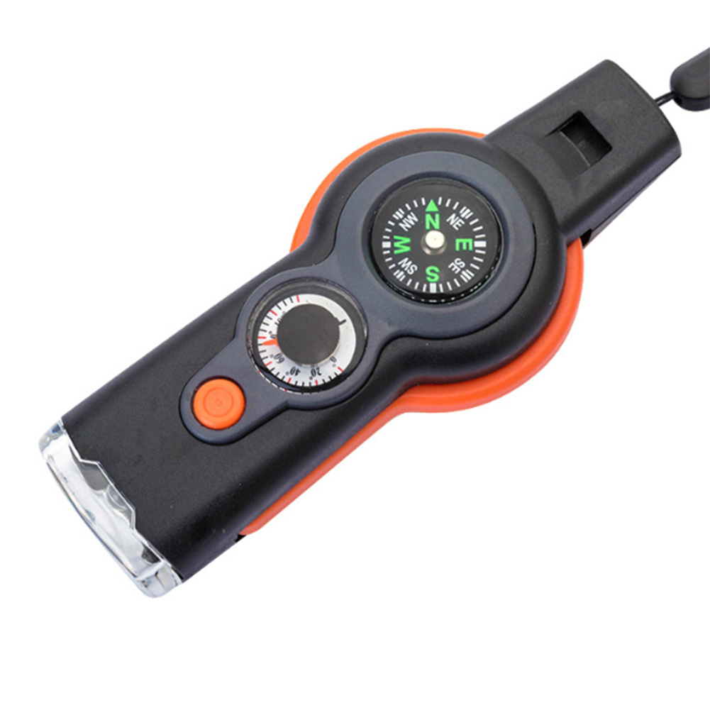 Seven In One Multi Function Survival Whistle Small And Portable Easy To Carry ABS Durable 20DC05