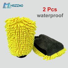 2 pces ultra luxo microfibra lavagem de carro luvas ferramenta de limpeza de carro roda escova de limpeza multi função escova de limpeza detalhando
