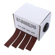 4pcs Sanding Belt Drawable Emery Cloth Grinding Belts Sandpaper Roll for Wood Turners Automotive 25mm*6m