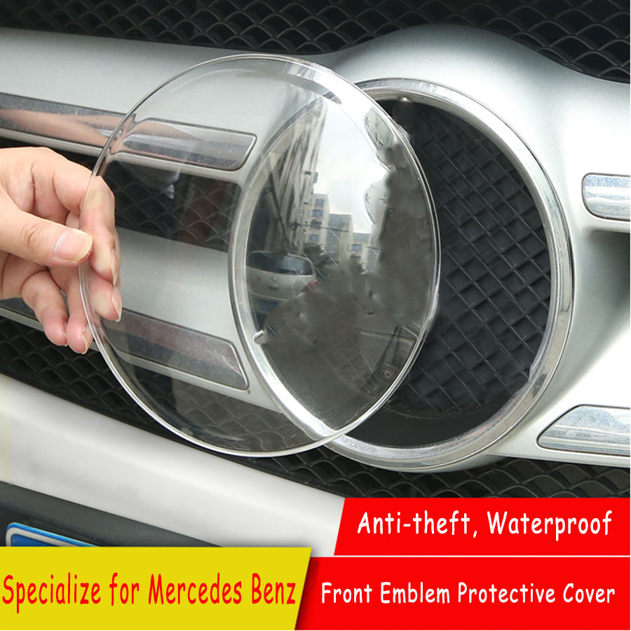 Anti-theft Front Grill Logo Protective Cover Cap for <font><b>Mercedes</b></font> <font><b>Benz</b></font> E C Class <font><b>W213</b></font> e E200L E300L W205 C200 C180 C260 <font><b>Accessory</b></font> image