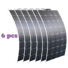 RG 2 adet 4 adet 6 adet 100w esnek güneş panelleri 100W 12V monokristal bükülebilir güneş enerjisi şarj cihazı ev için
