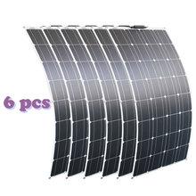 RG 2PCS 4PCS 6PCS 100w גמיש פנלים סולאריים 100W 12V Monocrystalline bendable שמש מטען עבור בית